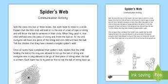 Spider's Web Team Building Game - gym, pe, communication, activity, team challenge