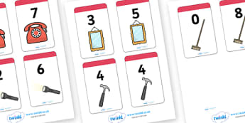 Number Bonds to 8 Matching Cards (Everyday Items) - Number Bonds, Matching Cards, Everyday Item Cards, Number Bonds to 8