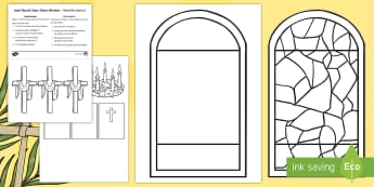 Lent Cut-Outs - English/Romanian - Lent, Colouring, Colouring pages, Ash Wednesday, Easter Sunday, Art, Church, Religion, Religious sym