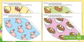 Easter Themed Party Hat Activity - easter, hat, party, celebration. colouring hat,