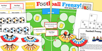 One Less Than EYFS Football Board Game Board - world cup, games