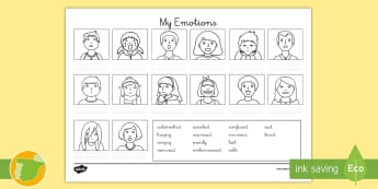 Ficha de actividad: Mis emociones - Inglés - feelings, emotions, lengua extranjera, english, inglés, ,Spanish-translation