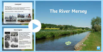 The River Mersey Information PowerPoint - Request KS2, river, route, River Mersey, Liverpool, tunnel, ferry, Liverpool Bay, Irish Sea, Runcorn