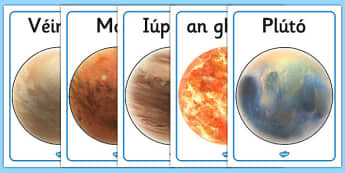Our Solar System Display Posters Gaeilge - gaeilge, poster, displays