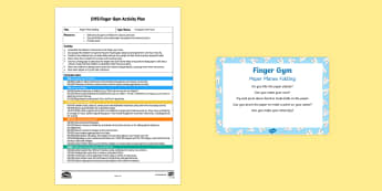 EYFS Transport and Travel Finger Gym Plan and Prompt Card Pack - Transport and Travel, paper planes, press, muscle strength, fine motor control, flying