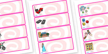 Editable Drawer - Peg - Name Labels (Toys) - Classroom Label Templates, Resource Labels, Name Labels, Editable Labels, Drawer Labels, Coat Peg Labels, Peg Label, KS1 Labels, Foundation Labels, Foundation Stage Labels, Teaching Labels, Resource