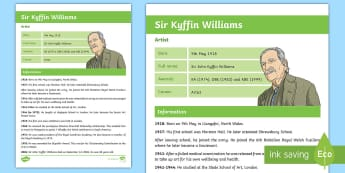 Kyffin Williams Fact File - Famous Welsh Faces, Kyffin WIlliams, art, Wales, Welsh, artists, history,Welsh