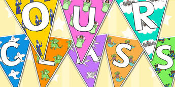 Welcome to Our Class Bunting Fantasy Themed - welcome, bunting
