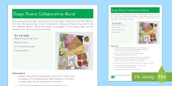 Diego Rivera Collaborative Mural Craft Instructions - Cinco de Mayo, diego rivera, mexico, Mexican culture, murals, collaboration, collaborative