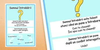 Semnul întrebării - Planșă - planșă, semnul întrebării, punctuație, semn, punctuație, planșe, romanian, materiale, materiale didactice, română, romana, material, material didactic