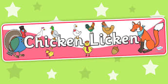 Chicken Licken Display Banner - stories, story book, story banner