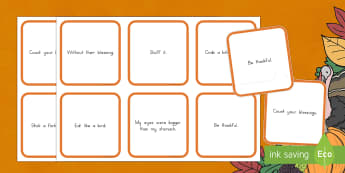 Thanksgiving Idioms Matching Cards