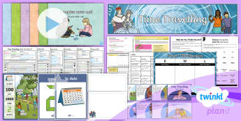 French: Time Travelling Year 5 Unit Pack  - Planit, French, Year 5, Unit, Pack