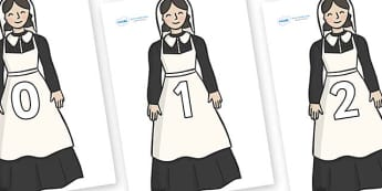 Numbers 0-100 on Florence Nightingale - 0-100, foundation stage numeracy, Number recognition, Number flashcards, counting, number frieze, Display numbers, number posters
