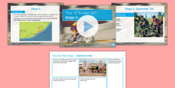 Tour of Britain Stage 5: Clacton Time Trial Activity Pack - cycle, race, events, form period, ks3