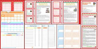 Christmas Home Planning Pack - christmas, home planning, pack, home, planning