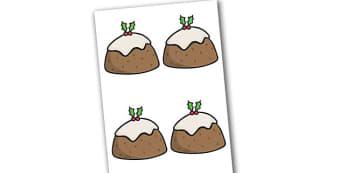 Editable Decorated Christmas Puddings - Christmas, xmas, pudding, editable, tree, advent, nativity, santa, father christmas, Jesus, tree, stocking, present, activity, cracker, angel, snowman, advent , bauble