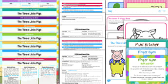 EYFS The 3 Little Pigs Bumper Planning Pack-Australia