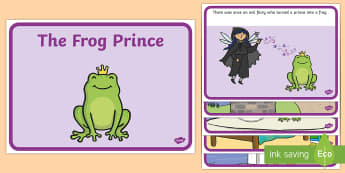 The Frog Prince Story Sequencing (A4) - Frog, princess, prince, evil fairy, splash, kiss, sequencing, story sequencing, story resources, A4, cards,  well, king, bed, sleep, golden ball, beautiful, fell, plate, palace, traditional tale, story, book, s