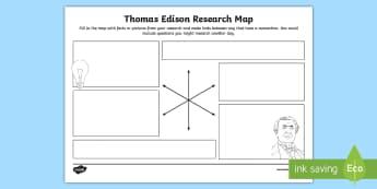 Thomas Edison Research Map - famous deaf people, deaf awareness, inspirational, deaf celebrities, self-esteem, celebration, deaf