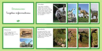Tarjetas informativas los dinosaurios - Dinosaurios, pre-historia, dinos, proyectos, aprendizaje basado en proyectos, proyectos infantiles,