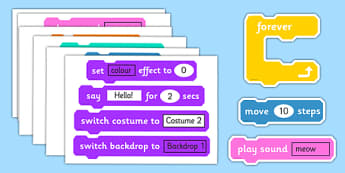 Scratch Blocks For Display - scratch, blocks, program, display