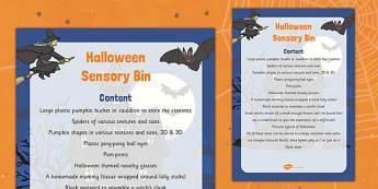 Halloween Sensory Bin - halloween, autumn, sensory bin, sensory, bin, activity, eyfs, early years