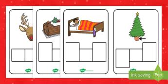 Christmas CVC Words Phoneme Frames