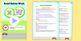 Road Safety Assembly Script and PowerPoint - assembly, road, safe
