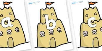 Phoneme Set on Sandcastles - Phoneme set, phonemes, phoneme, Letters and Sounds, DfES, display, Phase 1, Phase 2, Phase 3, Phase 5, Foundation, Literacy