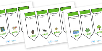 Editable Bookmarks (Habitat) - Habitat, Bookmark, bookmark template, gift,  present, book, reward, achievement, woodland, animal, living, area