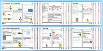 Year 2 SPaG Activity Mats Pack - KS1, Key Stage 1, key stage one, year 2, Y2, year two, SPaG, spelling, punctuation, grammar, reading