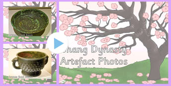The Shang Dynasty Artefact Display Photos PowerPoint - powerpoint