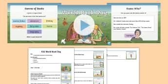 KS2 World Book Day Assembly Pack - reading, stories, author, illustrator, read, enjoy, celebration, novels