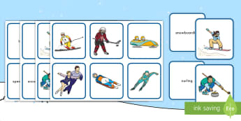 Winter Olympics Pairs Matching Game - Concentration, Memory Game, Cognitive Development, Memory Capacity,