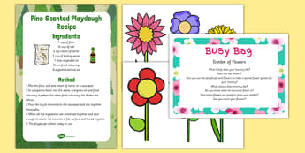 Garden of Flowers Busy Bag Prompt Card and Resource Pack - Mother's Day, Flowers, Growing, Gardens