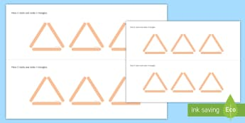Triangle 2D Shape Puzzle Activity Pack - 2D shape, triangles, shape and space, puzzles, maths, problem solving, critical thinking,Irish