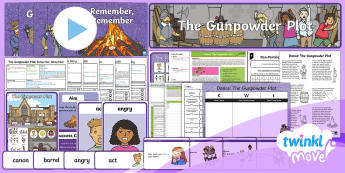 Twinkl Move - Year 2 Dance: The Gunpowder Plot Unit Pack - PE, Physical Education, Key Stage 1, KS1, Year 1, Y1, Year 2, Y2, Warm-Up, Dance, Sport, Exercise, T
