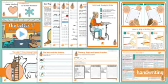 The Journey to Cursive: The Letter 'l' (Ladder Family Help Card 1) KS2 Activity Pack - English - Nelson handwriting, penpals, fluent, joined, legible