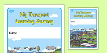 My Transport Learning Journey Book Cover - transport, learning, journey, book cover