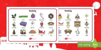 Christmas Word Mat Welsh -  christmas, welsh, nadolig, display, welsh display