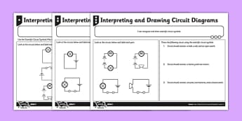 Interpreting And Drawing Circuit Symbols Activity Sheet