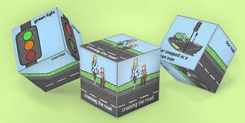 Road Safety Dice Net - road safety, dice, safety, road, activity