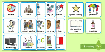 Additional Visual Timetable Cards - visual timetable, display