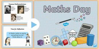 Maths Day Whole-School Assembly Pack - world maths day, pi, mathematics, mathletics, times tables