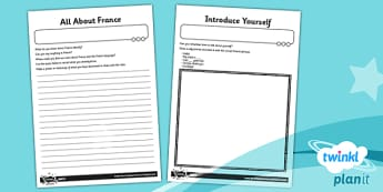 French: Getting to Know You Year 3 Home Learning Tasks