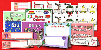 Christmas Classroom Signs and Labels Resource Pack - christmas
