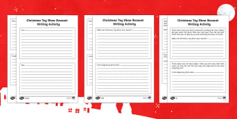 Christmas Toy Show Recount Writing Differentiated Activity Sheets-Irish