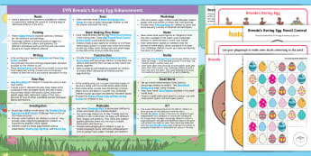 EYFS Brenda's Boring Egg Enhancement Ideas and Resource Pack EYFS Enhancement Ideas and Resources Pack - EYFS, Early Years Planning, Twinkl Originals, Twinkl Fiction, Brenda, Ducks, Ducklings, Egg, Nest, S