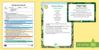 EYFS Jungle Swamp Mash Finger Gym Plan and Prompt Card Pack - Jungle and Rainforest, muscle strength, fine motor, gross motor, mash, swamp